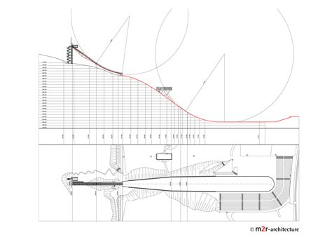 planned section ski jumps forum archinect
