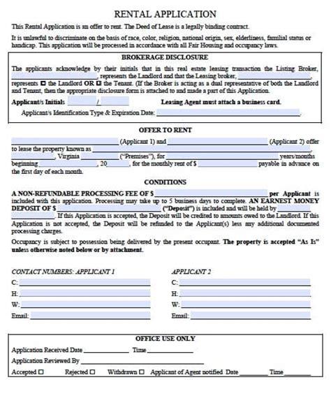 free new mexico rental application form pdf eforms free