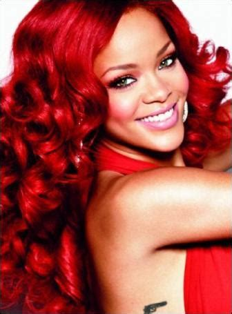 best pictures: rihanna's red hair color: photos of short