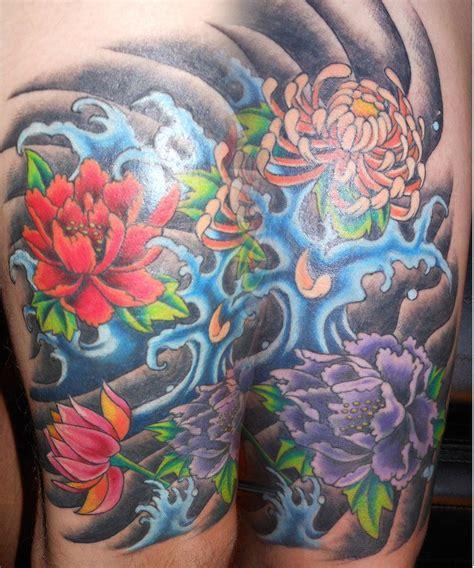 japanese roses tattoos japanese flower tattoos japanese flowers and waves