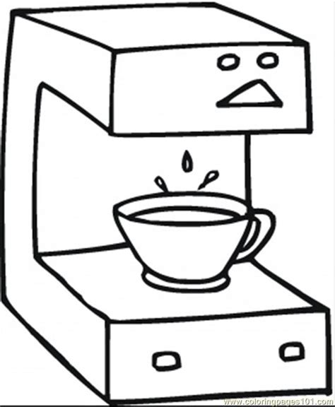 Coloring Pages Fresh Coffee (Technology > Home Appliances)   free printable coloring page online