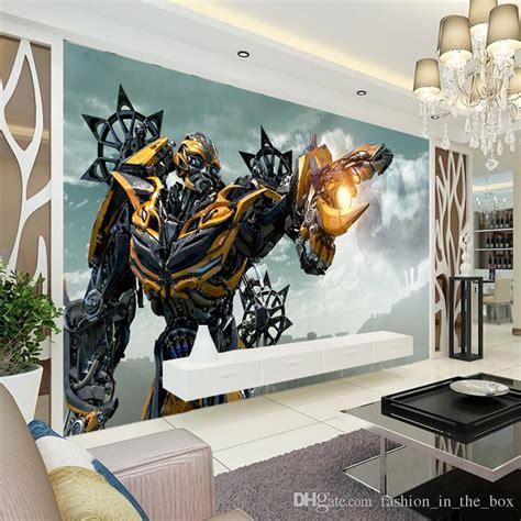 3d bumblebee wall mural transformers photo wallpaper boys