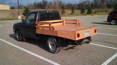 flatbed ford ranger custom wood flatbed phoax ranger forums the ultimate