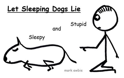 let sleeping dogs lie popular expressions with illustrations the stick