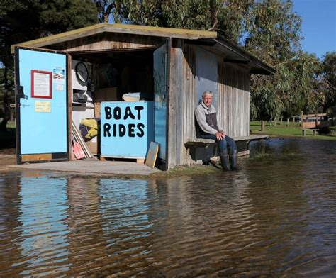 paddle boats warrnambool flood hits boat business the standard
