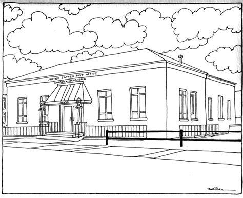 Eufaula Post Office by Beth Eufaula Oklahoma Post Office 8 X 10