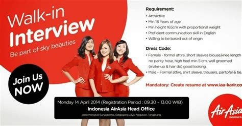 airasia walk in interview fly gosh cabin crew walk in interview air asia indonesia