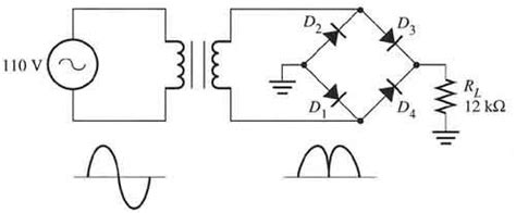 four diode bridge rectifier wave rectifier ripple voltage physics forums the fusion of science and community