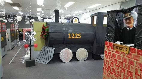 office decorated in the polar express office decorations polar express polarexpress officedecorations polar express