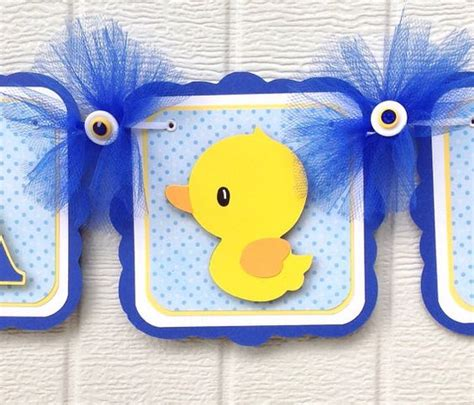 Duck Baby Shower Banner by Duck Baby Shower Banner Duck Banner Rubber Duck Banner