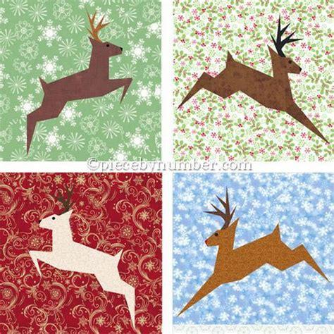 Reindeer Quilt Pattern reindeer paper by piecebynumber quilting pattern