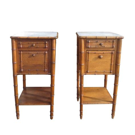 19th century french faux bamboo bedroom suite at 1stdibs pair of 19th 20th century french faux bamboo nightstands