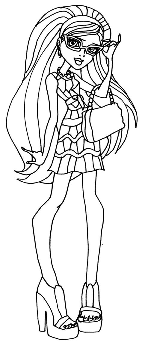 monster high coloring pages by elfkena on deviantart ghoulia by elfkena on deviantart