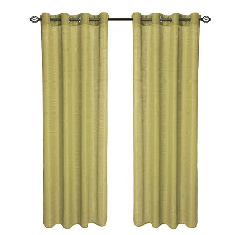 curtain panel length lavish home sage olivia jacquard grommet curtain panel 84