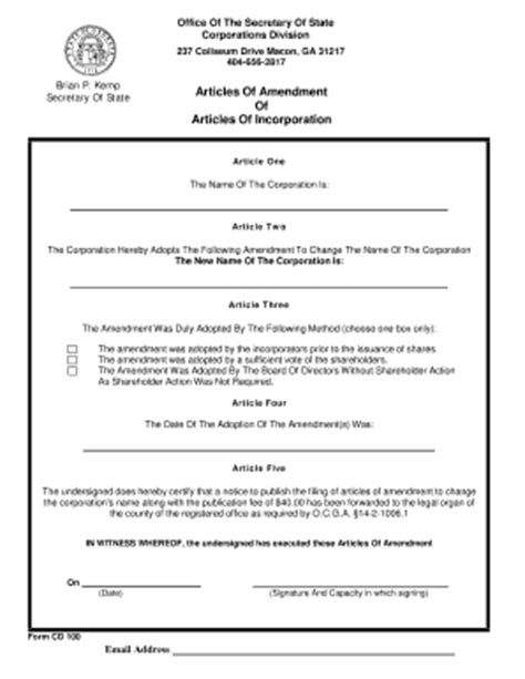 Petition For Writ Of Habeas Corpus Connecticut Forms And Templates Fillable Printable Articles Of Amendment Template