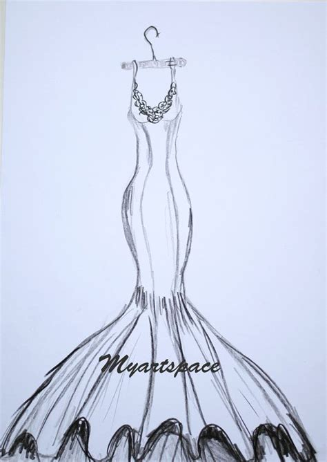 Drawing Dresses by Wedding Dress Drawing Custom Siren Wedding Dress By