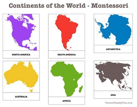printable montessori work continents of the world montessori printable the end