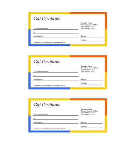 downloadable gift certificate template 31 free gift certificate templates template lab