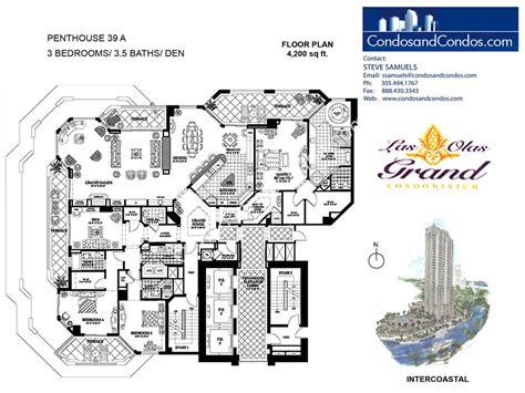 las olas grand floor plans las olas grand condos for sale downtown fort lauderdale