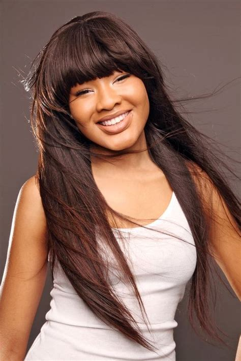 hairstyles using kanubia brazilian natural body with bangs 24 best images about relaxed permed on pinterest