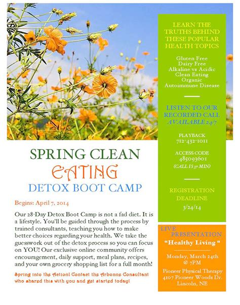 Detox Flyer by Arbonne International Customized Marketing Material On