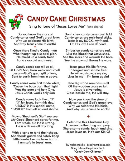 candy cane christmas song seed faith books