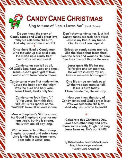 candy cane christmas song seed faith books