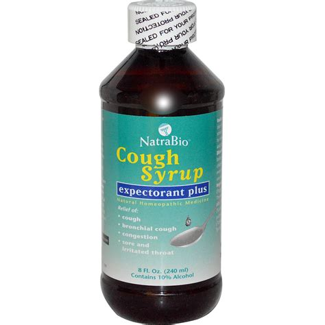 couch syrup natrabio cough syrup expectorant plus 8 fl oz 240 ml