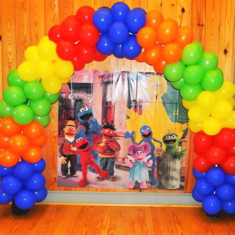 Sesame street arch decorations pinterest