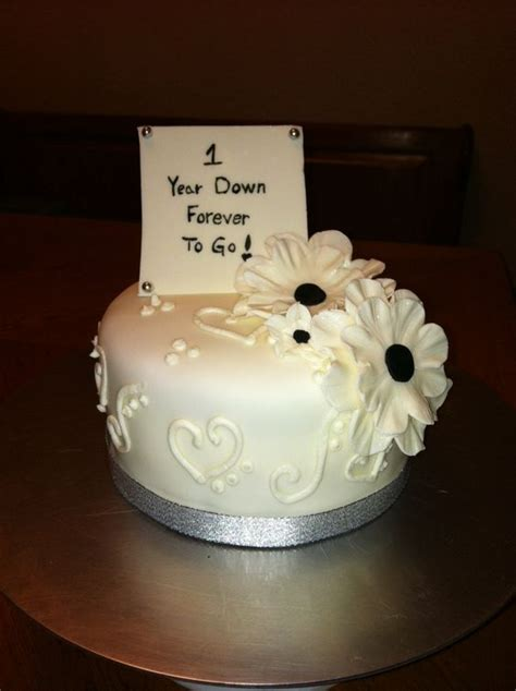 1st Wedding Anniversary Ideas To Make by Happy 1st Anniversary Cake But Use The Cake Top From Our