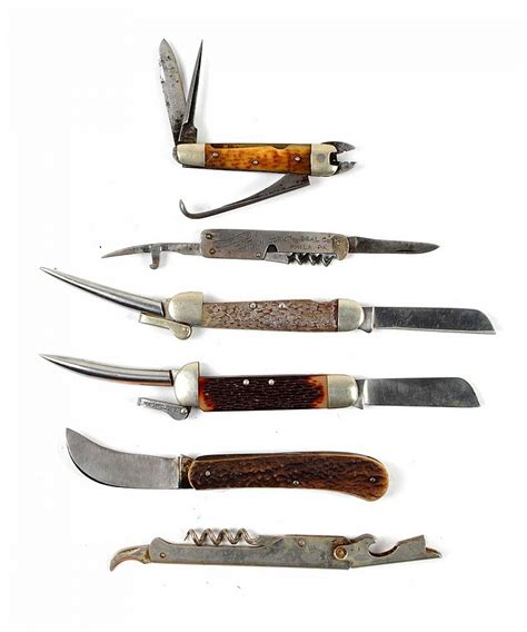 knife lots lot of 6 special purpose knives