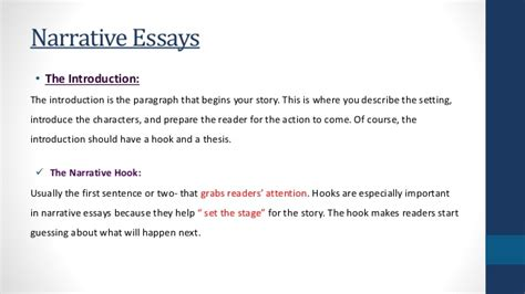 Introduction To A Narrative Essay by Narrative Essays