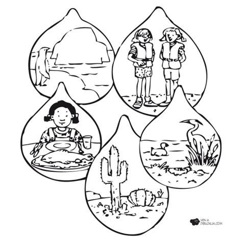 dibujos para colorear sobre agua dibujos del cuidado del agua para colorear el 22 de marzo