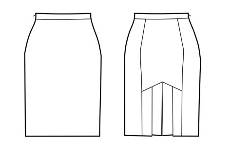 pattern drafting for pencil skirt pencil skirt with pleats in the back sewing pattern