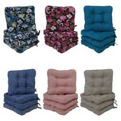 4 padded seat cushions chair cushion tie on dining garden