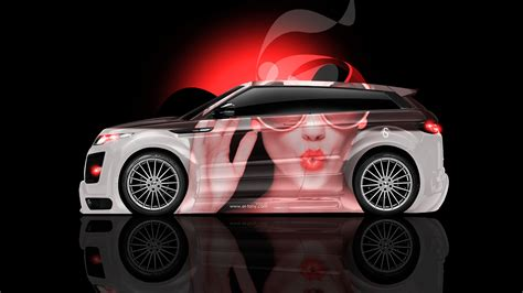 neon orange range rover land rover evoque aerography car 2014 el tony