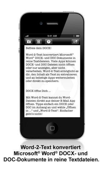Word-2-Text Konverter App: Reine Textdateien aus Word