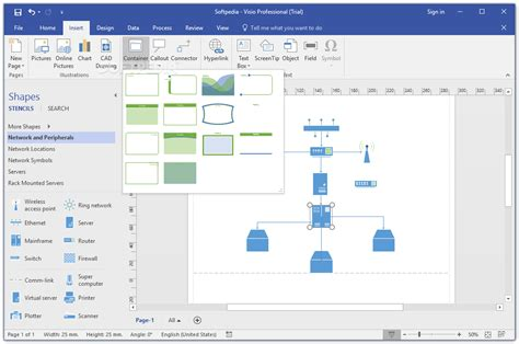 visio display microsoft visio professional 2016 16 0 6741 2048