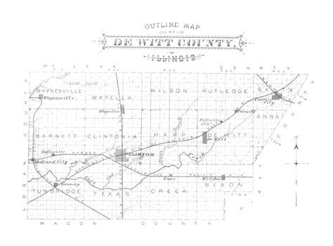 dewitt county map 1882 outline map of dewitt county illinois