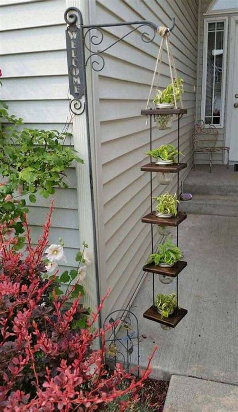 Diy Herb Garden Planter 18 easy hanging gardens ideas for outdoors shelterness