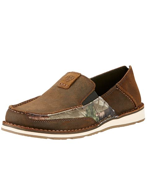 ariat s cruiser camo slip on shoes brown