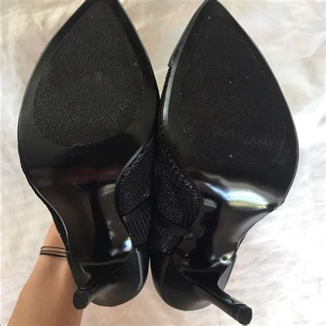 24 steve madden shoes steve madden black leather mesh 4 inch heel from s