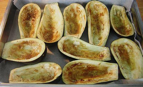 aubergine innen braun gef 252 llte auberginen rezept mit bild in a