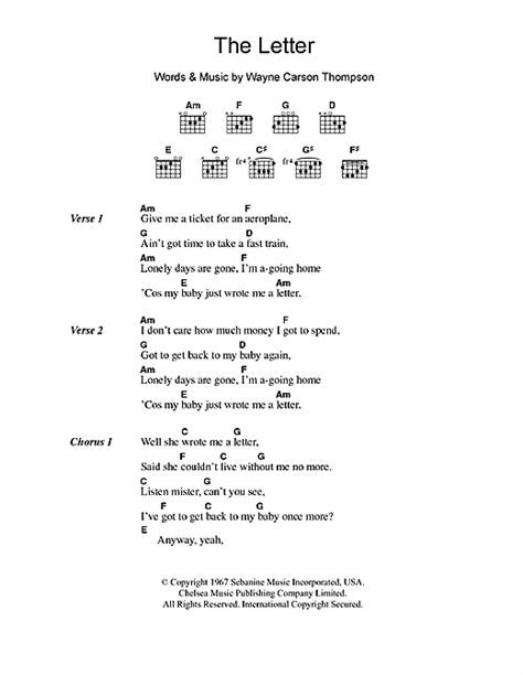 Letter Seventeen Chords The Letter Chords 23 Best Chords Images On Letter Menu And Ph Letter From America Chords By