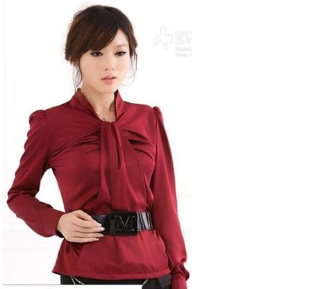 Exclusive Blouse Atasan Korea Rumbai Unik Merah Putih Import Termurah 17 best images about kemeja cwek on chiffon