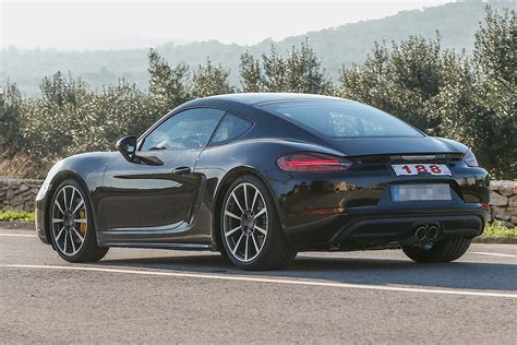 porsche cayman 2017 2017 porsche cayman spied while testing turbo four