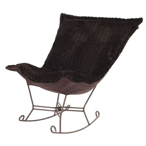 puff chair rocker howard elliott puff rocker mink brown