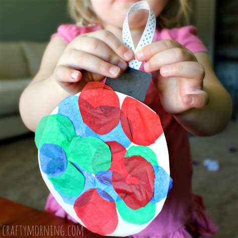 paper plate ornament craft for crafty morning