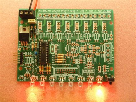 pwm led chaser with variable speed control 8 channel pwm led chaser for pic16f628a