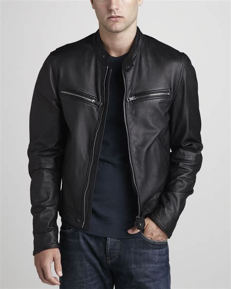 leather jacket mens grey leather jacket models picture